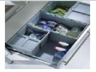 SET OF 6 WASTE BINS & NON SLIP BASE PLAE FORINSTALLATION IN DRAWER BOXES FOR CABINET WIDTH900MM