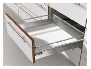 TANDEMBOX PLUS B-HEIGHT STAINLESS STEEL STANDARD DRAWER WITH A WEIGHT CAPACITY: 30 Kg FOR A NOMINAL LENGTH OF 500mm
