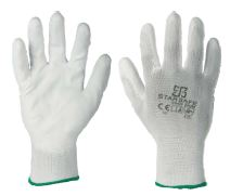 PU COATED GLOVES / WHITE SIZE 10