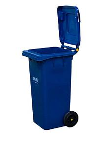 Dust Bin With Wheel 240 L Blue