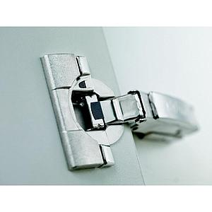 78Z5500T CLIP top 134° unsprung centre hinge for AVENTOS HF , finish: Nickel plated, boss: screw-on
