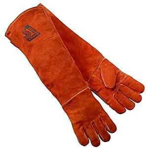 Leather Coloured Hand Gloves 12 inch